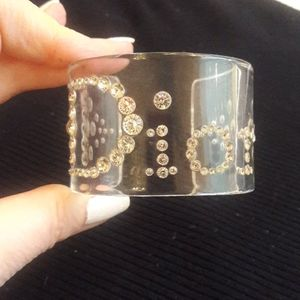 Authentic Christian Dior Lucite Cuff Bracelet